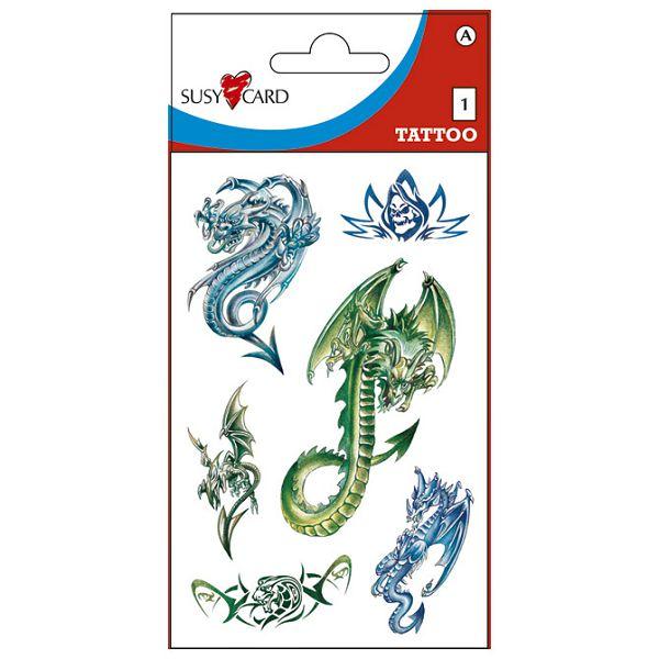 Naljepnice dječje-Tattoo zmajevi Herlitz 11258837 blister!!