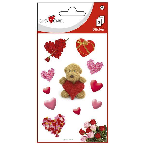 Naljepnice dječje medo sa srcima Herlitz 11259256 blister!!