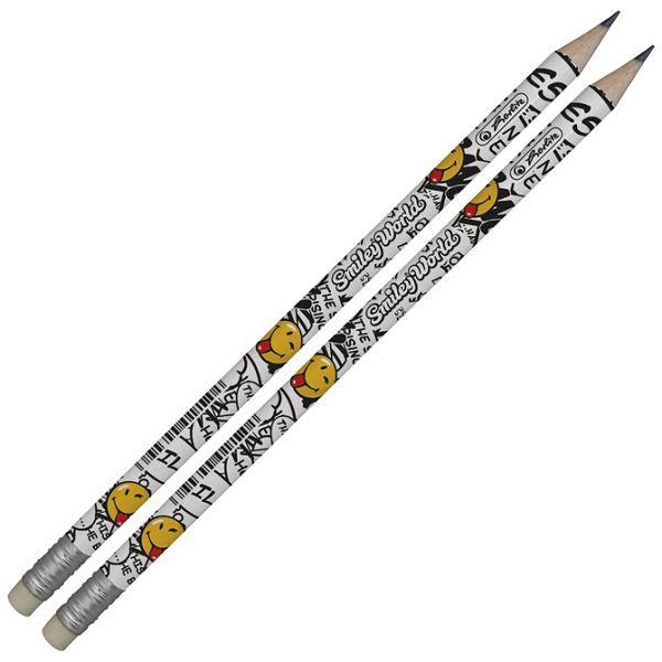 Olovka grafitna HB s gumicom Smiley pk2 Herlitz 11229275 blister!!