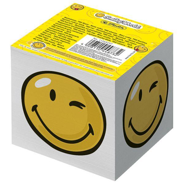 Papir za kocku 8x8x7cm ljepljeni Smiley Herlitz 11245297 bijela