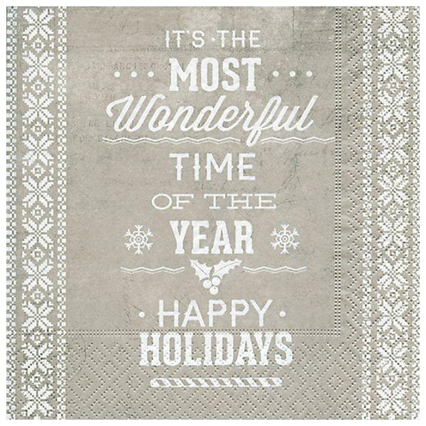 Salvete troslojne 33x33cm pk20 Happy holidays Herlitz 40023724