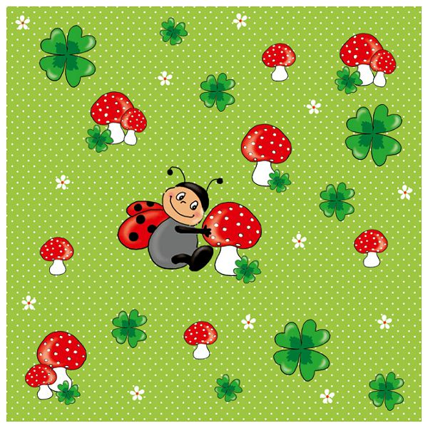 Salvete troslojne 33x33cm pk20 Ladybug Herlitz 11309077