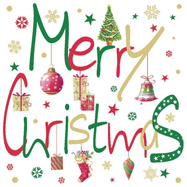 Salvete troslojne 33x33cm pk20 Merry Christmas Herlitz 40023663