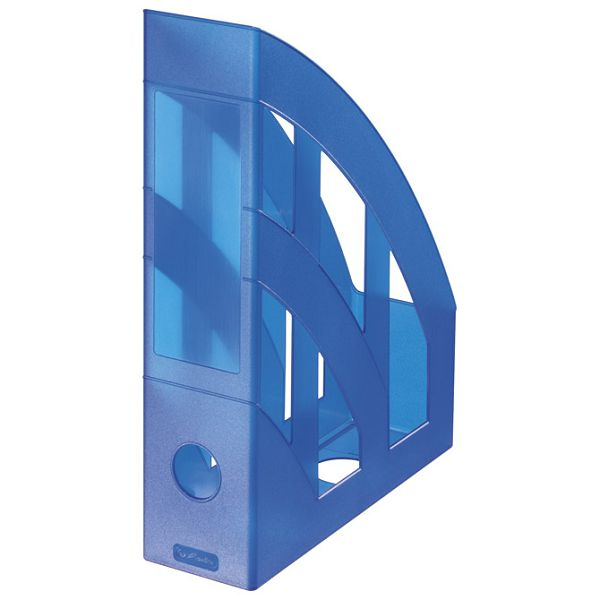 Stalak za spise okomit plastičan classic Herlitz 10095255 prozirno plavi