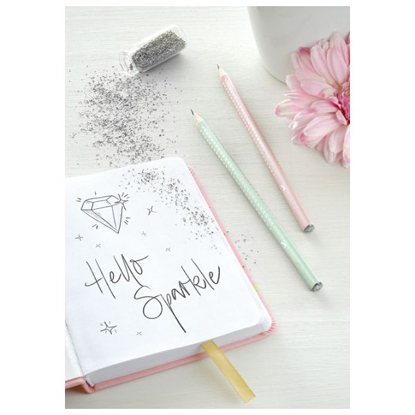 Olovka grafitna B Grip Sparkle pearl Faber Castell 118201 svijetlo roza