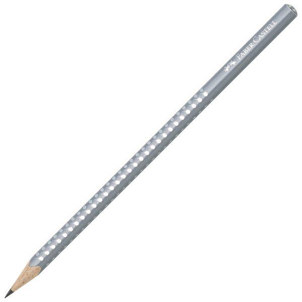 Olovka grafitna B Grip Sparkle pearl Faber Castell 118202 siva