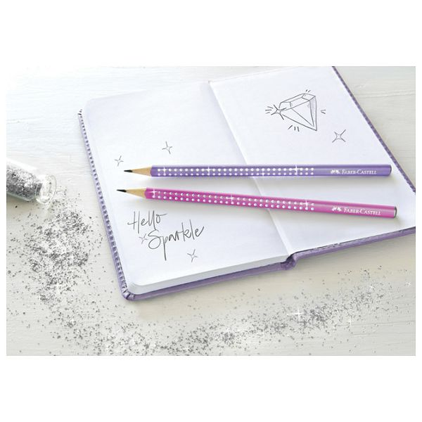 Olovka grafitna B Grip Sparkle pearl Faber Castell 118204 lila