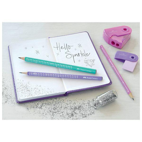 Olovka grafitna B Grip Sparkle pearl Faber-Castell 118205 tirkizna
