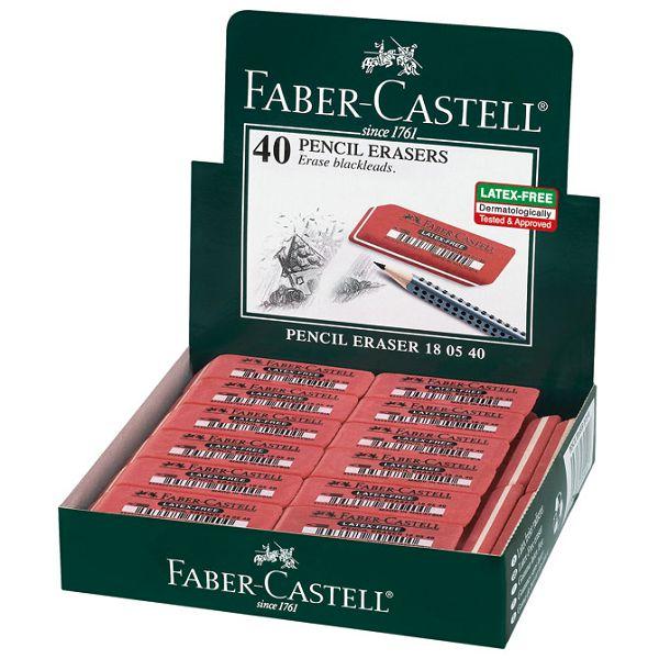 Gumica kaučuk 7005 Faber Castell 180540 crvena-KOMAD