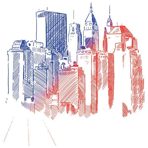 Olovka grafitna Document copir Connect crveno/plava-KOMAD