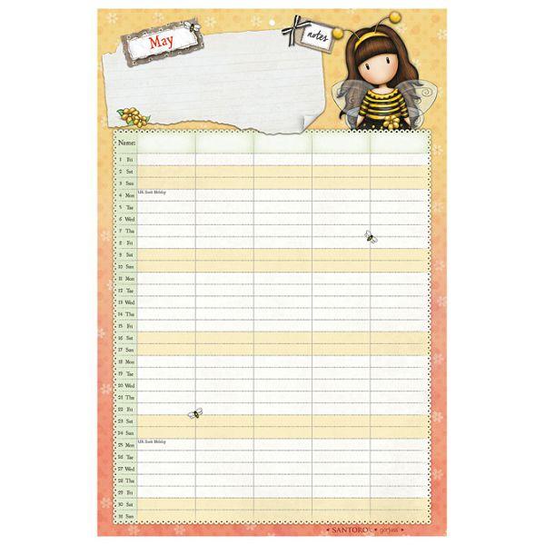 Kalendar 2020 zidni obiteljski My Gift To You Gorjuss CAWA144!!
