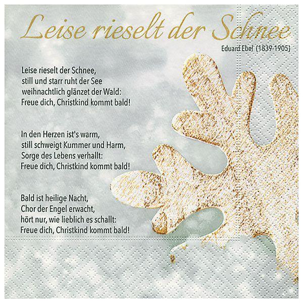 Salvete troslojne 33x33cm pk20 Winter song Herlitz 40030166