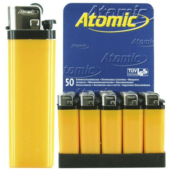 Upaljač jednokratni sjajni Atomic Reibrad žuti