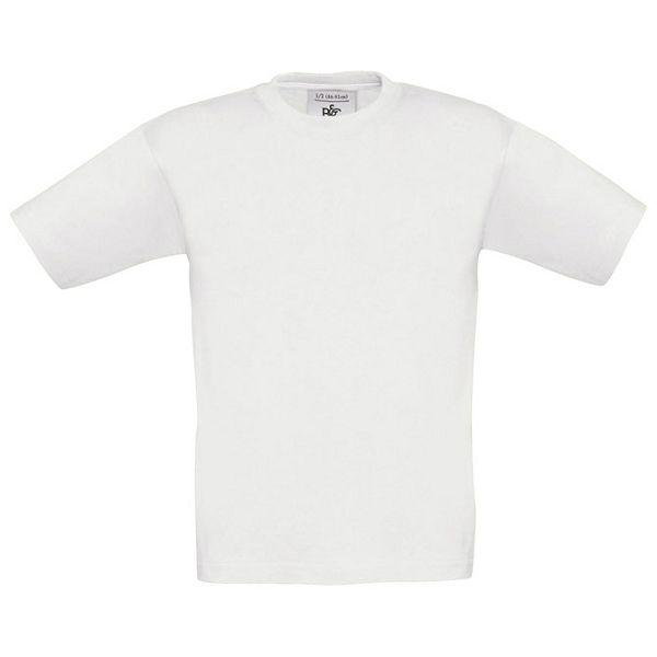 Majica kratki rukavi B&C Exact Kids 150g bijela 12/14