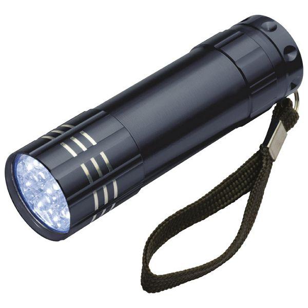 Svjetiljka ručna  9 LED metalna crna