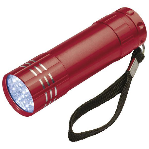 Svjetiljka ručna  9 LED metalna crvena
