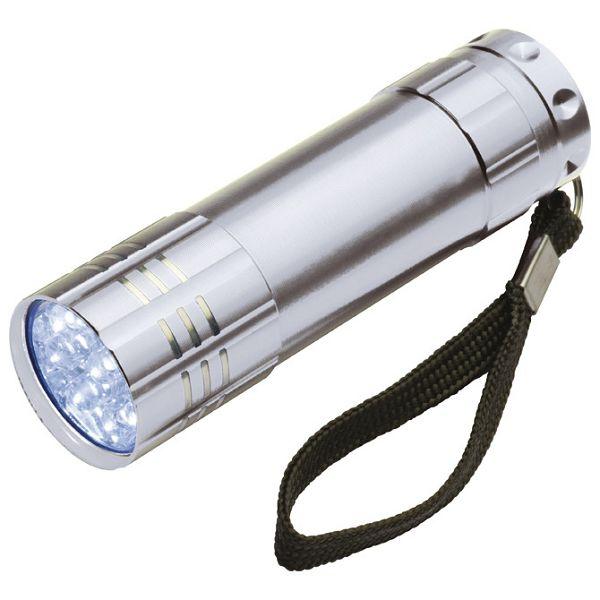 Svjetiljka ručna  9 LED metalna srebrna