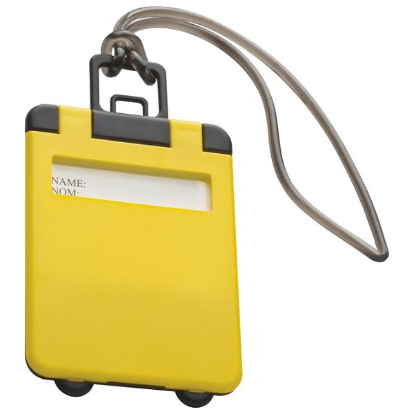 Privjesnica za prtljagu za osobne podatke žuta
