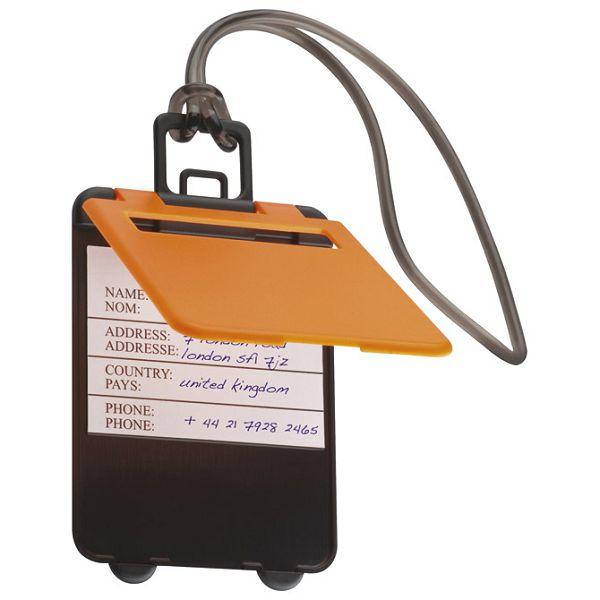 Privjesnica za prtljagu za osobne podatke narančasta