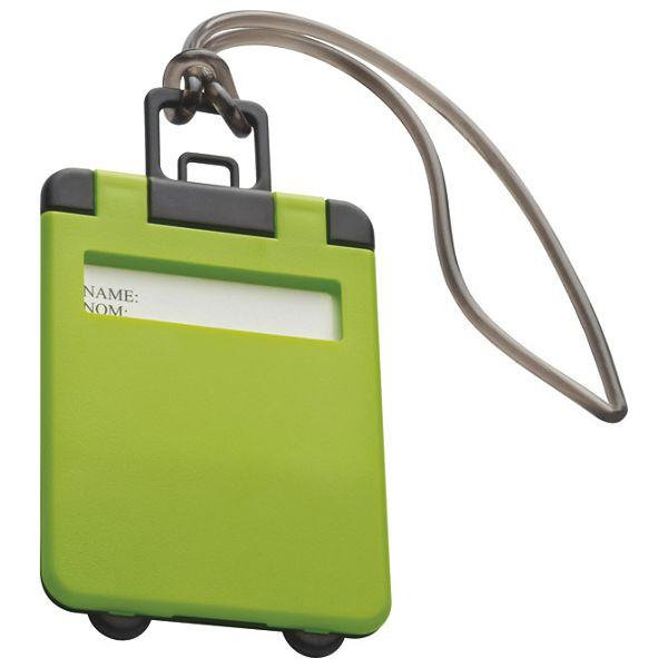 Privjesnica za prtljagu za osobne podatke svijetlo zelena