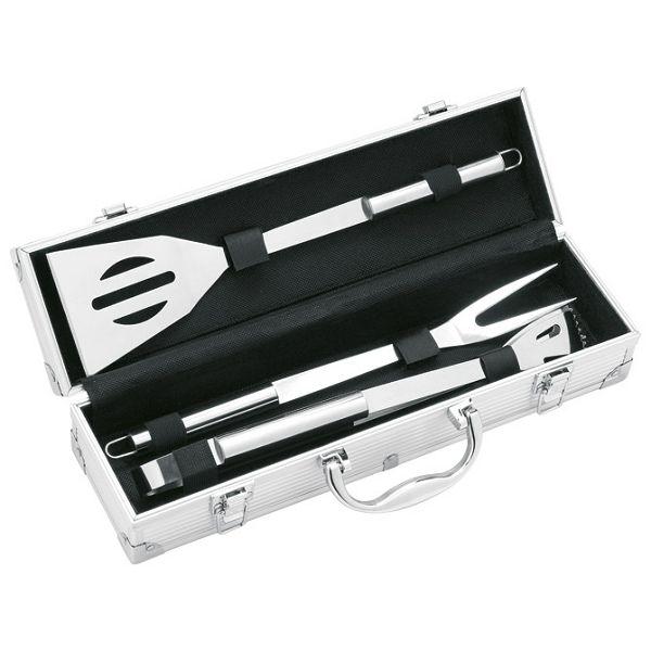 Set za roštilj u aluminijskom kovčegu