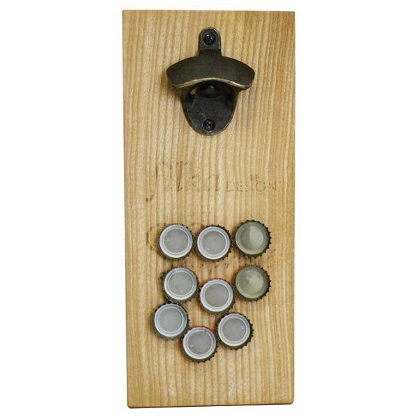 Otvarač za bocu zidni drveni magnetni