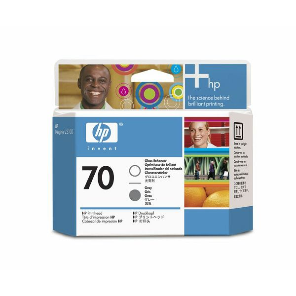 HP C9410A No.70 Gloss Enhancer/Gray Orginalna glava