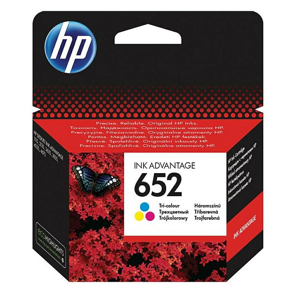 HP F6V24AE No.652 Tri-Color Originalna tinta