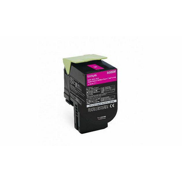 Lexmark 808SM 80C8SM0 Magenta originalni toner