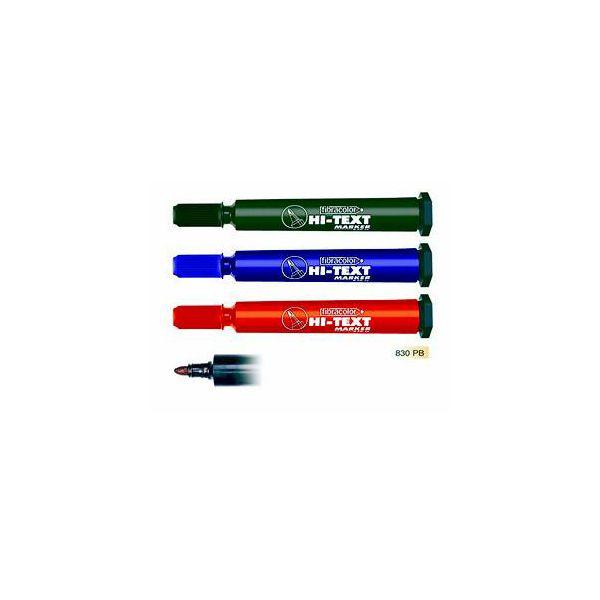 Marker Noki hi-text 830PB crveni-okrugli vrh