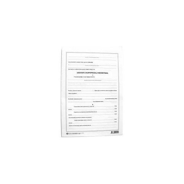 Obrazac kupoporodajni ugovor za nekretnine I-419