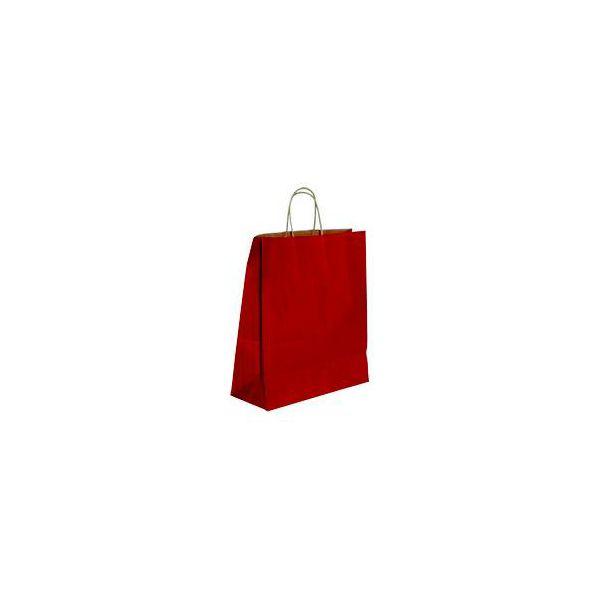 Vrećica pletena ručka M crvena