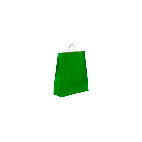 Vrećica pletena ručka M zelena