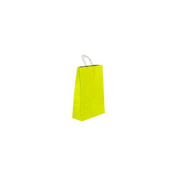 Vrećica pletena ručka M žuta