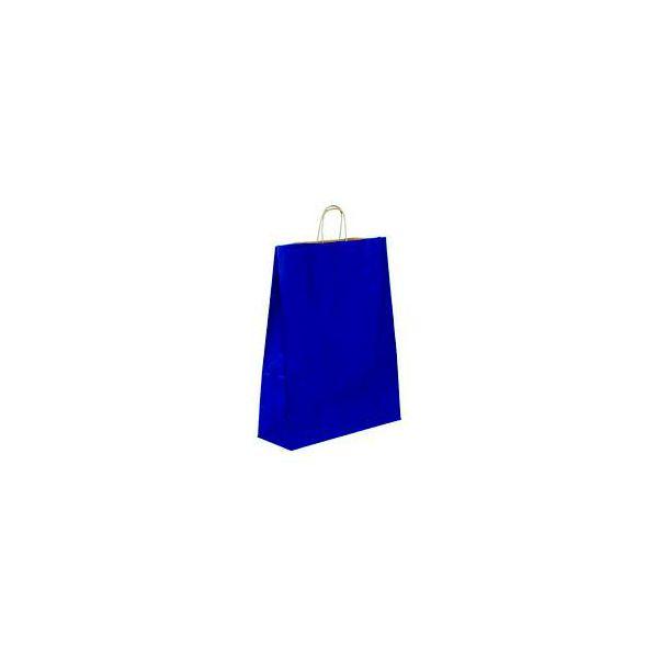 Vrećica pletena ručka L plava