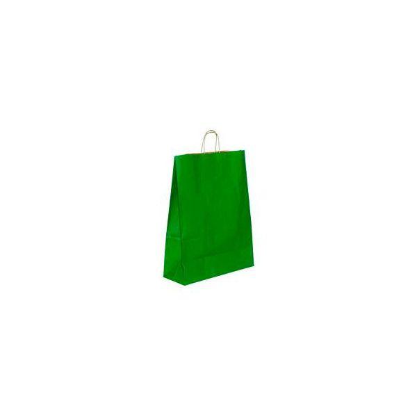 Vrećica pletena ručka L zelena