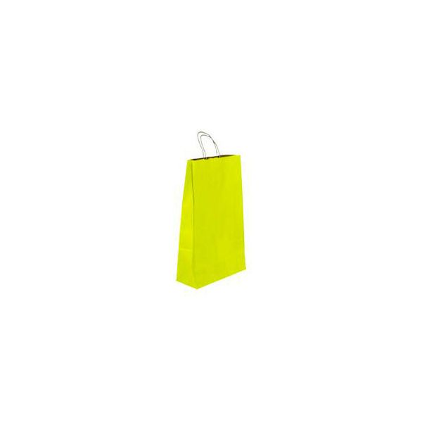 Vrećica pletena ručka L žuta