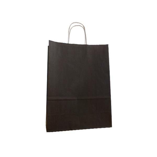 Vrećica pletena ručka L 31x11x42 crna