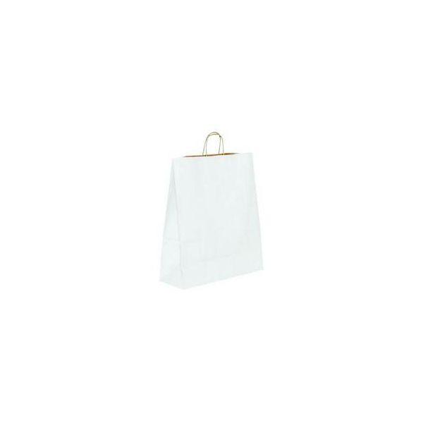 Vrećica pletena ručka M bijela
