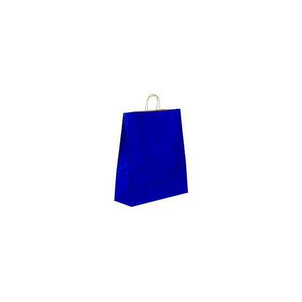 Vrećica pletena ručka M tamno plava