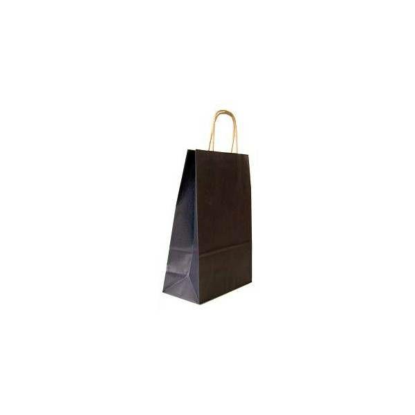 Vrećica pletena ručka S crna